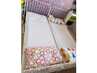 2 X Single Extendable Metal beds with mattress