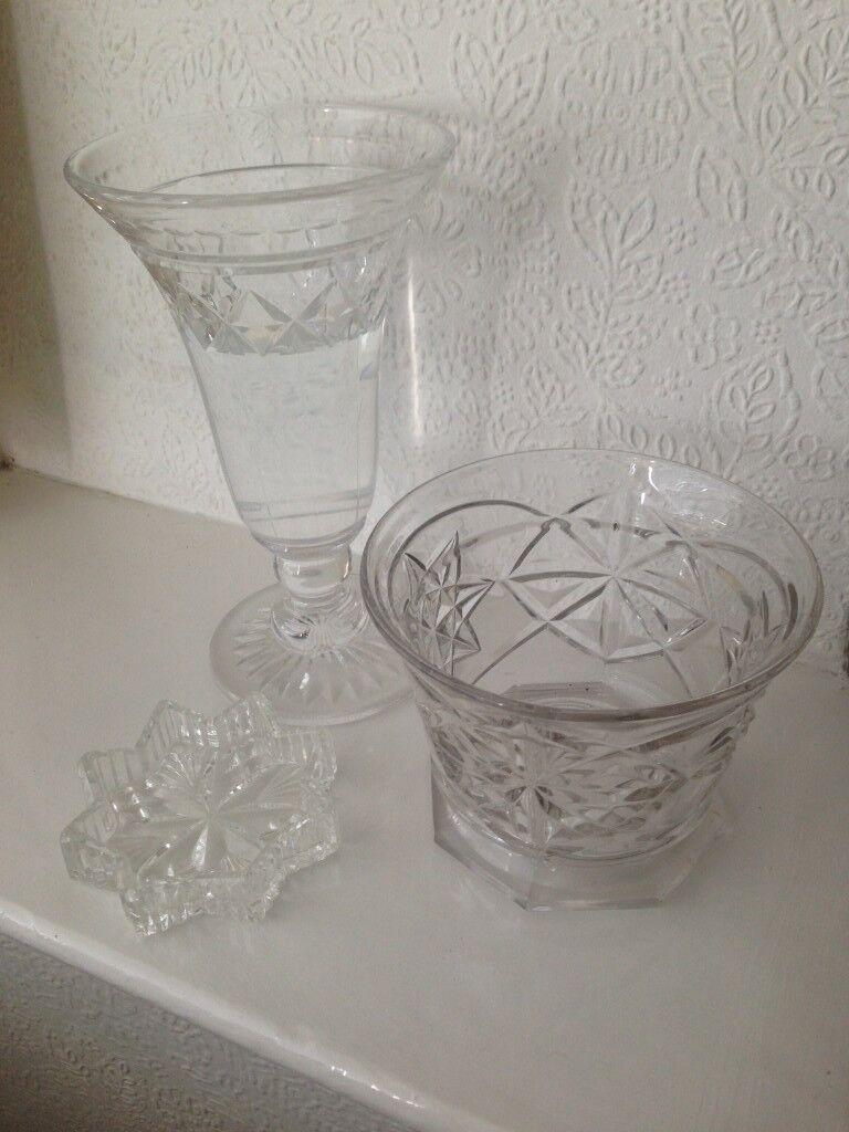 12294ce5308 Vintage Edinburgh Crystal Flower Vase