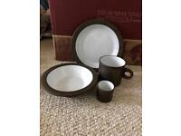 Vintage retro 1970s plates/mugs/bowls Lancaster vitramic Hornsea collection