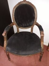 French Louis style vintage chair