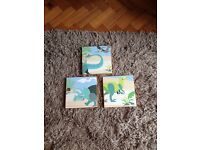 Dinosaur cartoon wall hangings