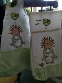 Matching sleeping bag & nappy stacker