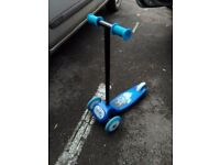 Blue children's scooter