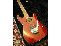 Suhr Custom Standard 2010 Trans Burgundy Mint Condition with OHSC