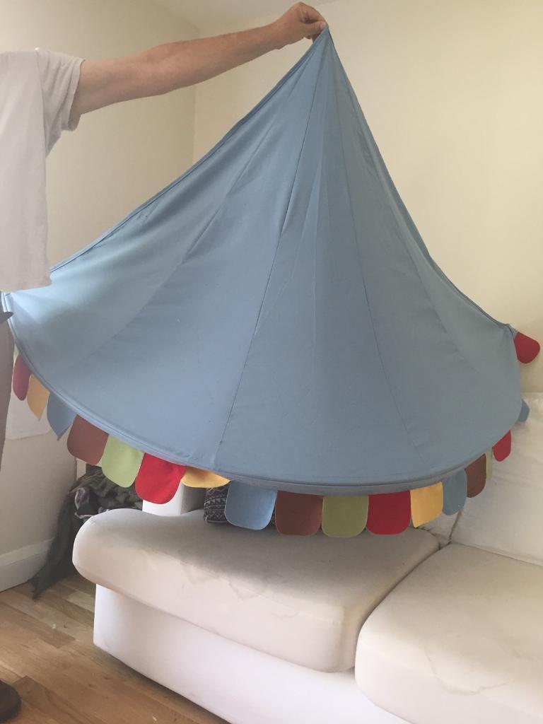 1 X Ikea Mysig Bed Canopy Light Blue