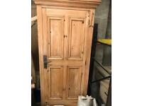 single and double pine wardrobes
