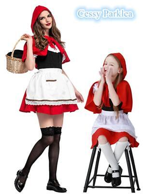 Girls Women Little Red Riding Hood Costume Child Kids Day Book Week Fancy - Bible Costumes For Girls