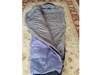 Mummy style sleeping bag, very good quality & warm, used once.