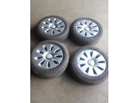 !! CLEARANCE !! Genuine Audi A4 A6 5x112 ALLOY WHEELS WITH TYRES 205/60/16