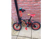 12 inch boys bike with removable parent handle
