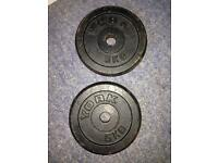 Barbells 2 weights 5kg each made by York