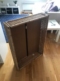 Wicker under bed storage basket (2 available)