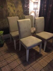 4 Faux suede dining chairs