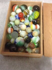Box of old marbles