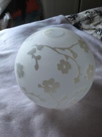 Glass globe lampshade for ceiling fixture
