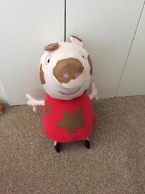 Large muddy puddles Peppa Pig plush cuddly toy