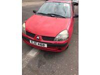 Renault Clio for sale, low mileage MOT till Jan 19
