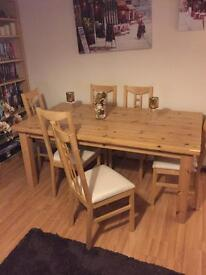 6 Seater Solid Oak Dining set
