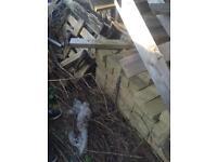Bricks and small pallets FREE