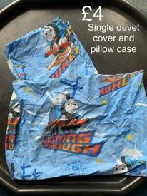 Single duvet and pillow Thomas tank engine