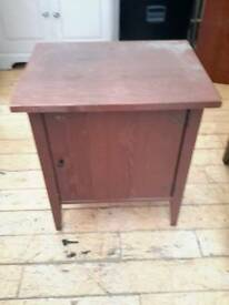 Brown wooden Ikea cabinet