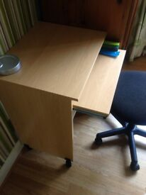 Office desk and chair with matching bookshelf
