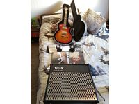 Vintage v100 Icon (Cherry Blossom) + VOX AD30VT Amp + Accessories for Sale - £250