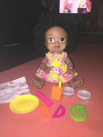Baby Alive Snackin Sara African American Ethnic Doll