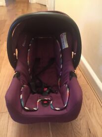 A car seat in a good condition