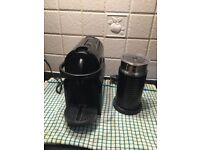 Nespresso coffee machine + milk frother