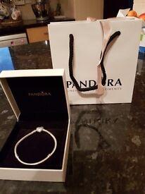 Pandora Pave heart moments silver bracelet. Brand new.