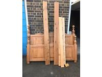 Fantastic chunky double wooden bed