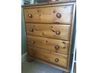 Pine chests of drawers