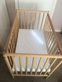 Small cot with mattress
