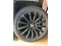 Falken Eurowinter Winter tyres and Bola Black Alley Rims for a LandRover Discovery 4 225/45R20