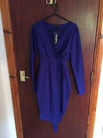 Boohoo Taylor obi belt wrap dress size 10 *new*