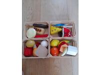Wooden Food Set - Excellent Condition