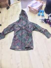 large camouflage water proof kagool 13 to 16 years