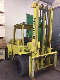 HYSTER 6 CYLINDER GAS FORKLIFT FOR SALE