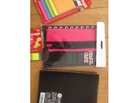 Stationery Pack , 3 x A5 Note Books , 3 x Pencil Cases , 3 x Post it Notes