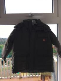 2-3 yr old gray jacket, wooden linen. Brand new - Never worn!