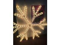 Rope light snowflakes