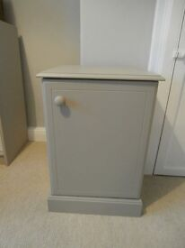 Cabinet upcycled painted grey cool hifi-REDUCED!!