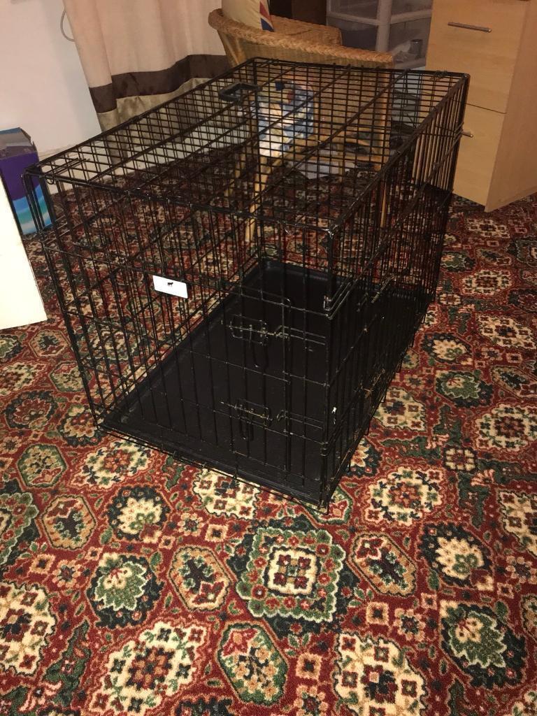 Double entrance medium dog cage