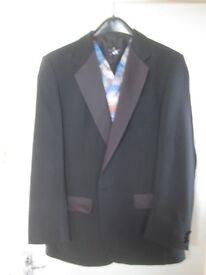 Mens black dress suit DEBENHAMS - Tuxedo jacket 40'' Trousers (plain style) W34''L31.5''