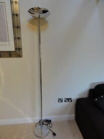 Silver Tall Floor Standing Lamp