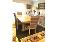 Brunswick furniture village dining table & 4 Chairs