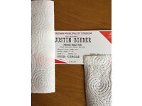 Justin Bieber - Cardiff Tickets x 2 in the Golden Circle!!
