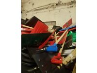 Pallet full of snow shovels approx 500 pieces