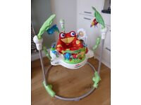 FisherPrice Rainforest Jumperoo from smoke-free and pet-free home